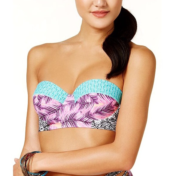 Hula Honey Other - Hula Honey Leaf Breeze Push-Up Bikini Top XS